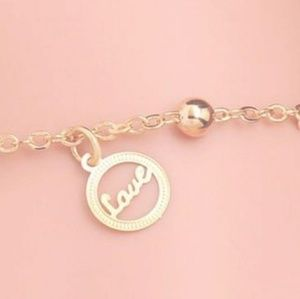 Dainty Love Bracelet or Anklet Foot Chain